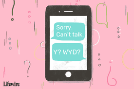 Illustration showing how someone uses 'wyd' in a text