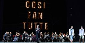 Artists of The Royal Opera House in its production of Wolfgang Amadeus Mozart's Cosi Fan Tutte in London, England