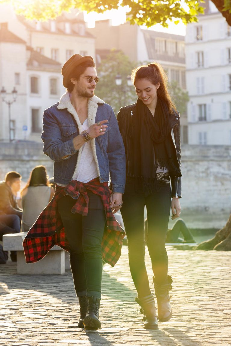 Romantic young Couple in Paris