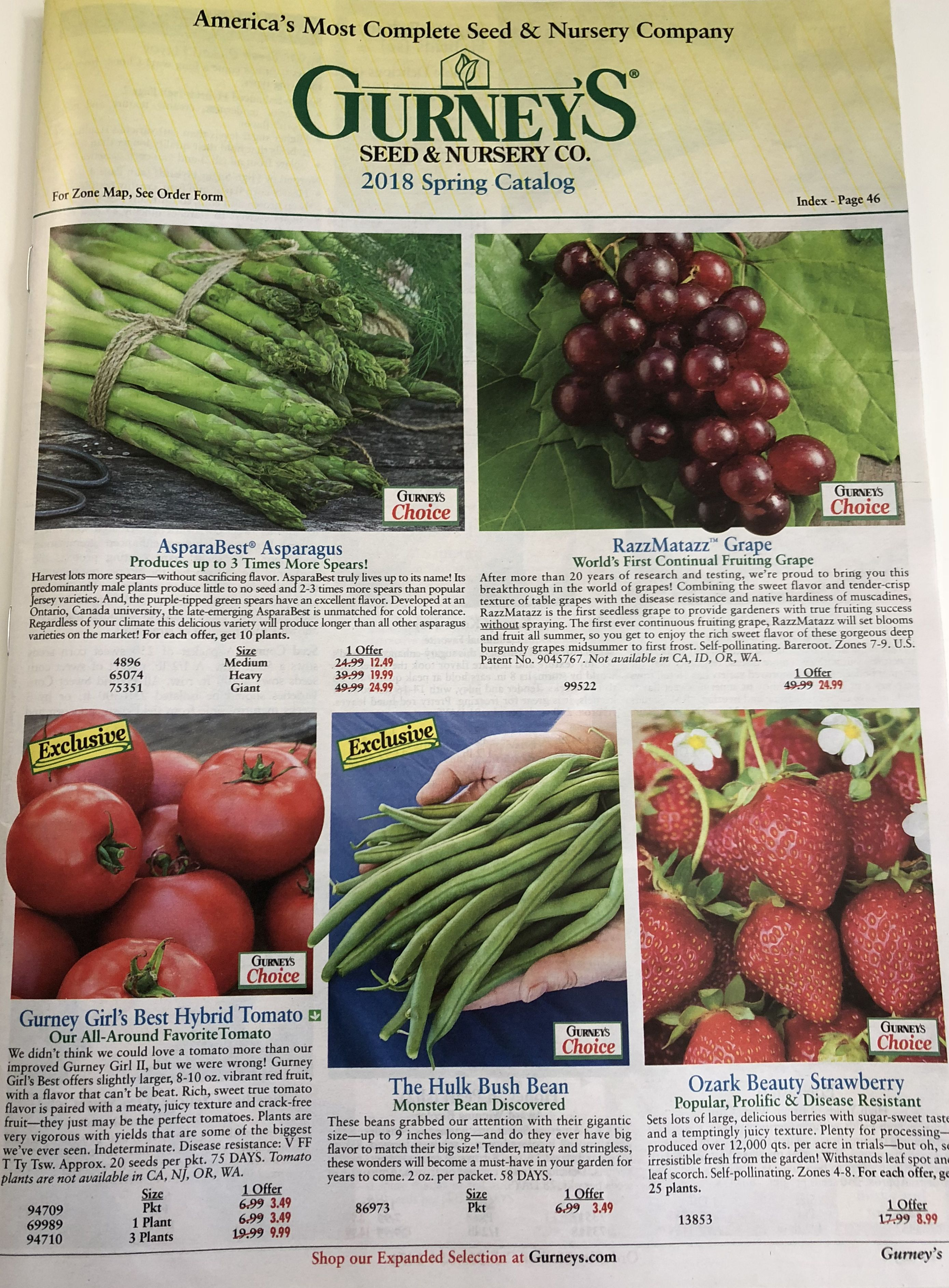 The cover of the 2018 Gurney's seed catalog
