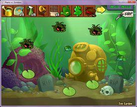 Level selection screen in Plants versus Zombies 3