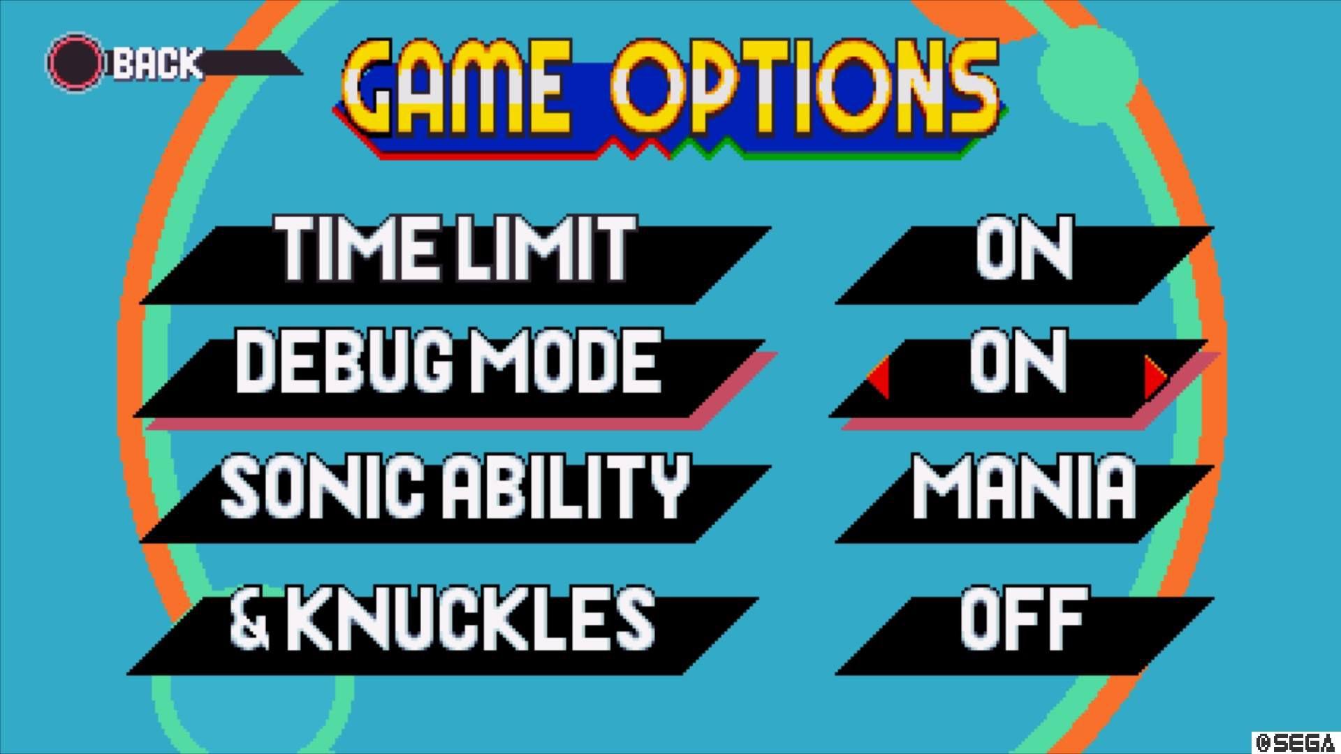 Press the game options button and enable Debug mode.