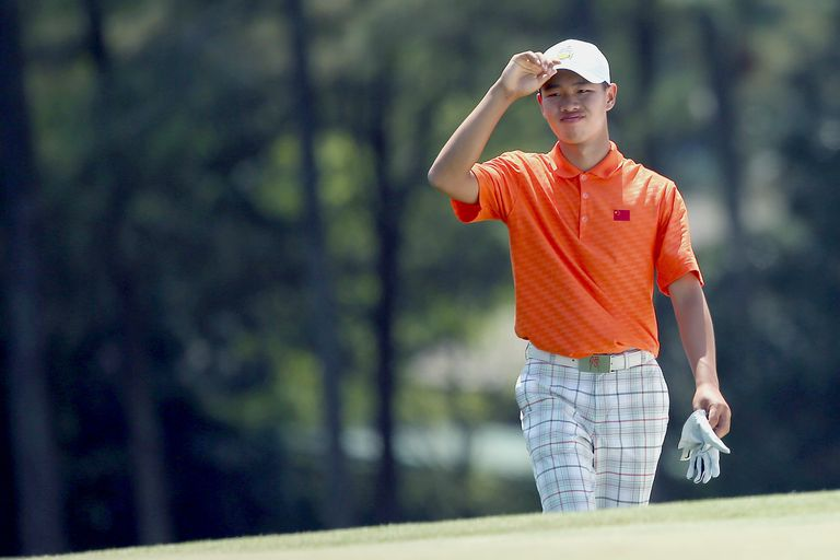 Guan Tianlang made the cut at the 2013 Masters