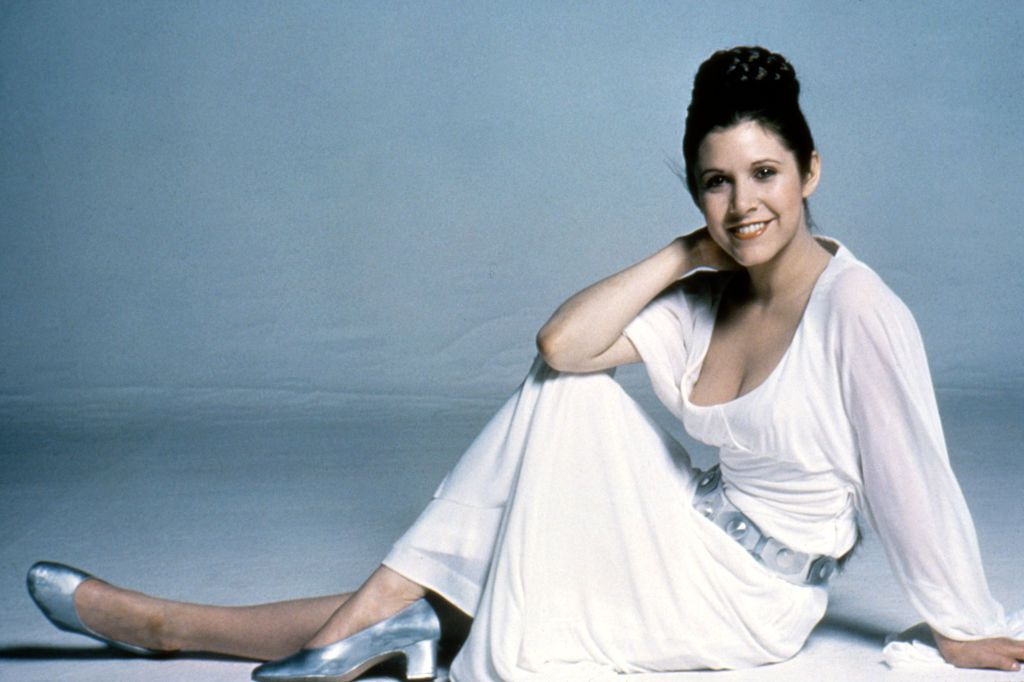 carrie fisher nipple