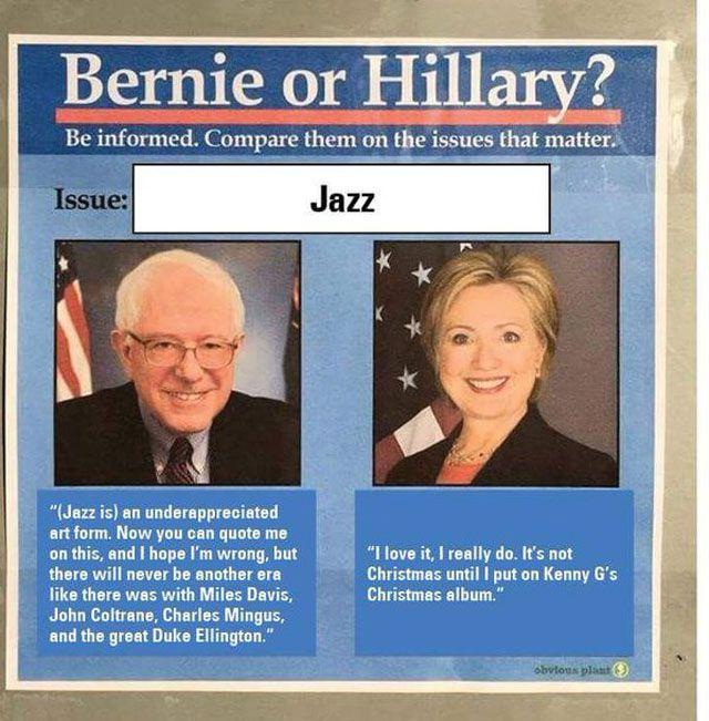 Bernie vs HIllary Meme Jazz