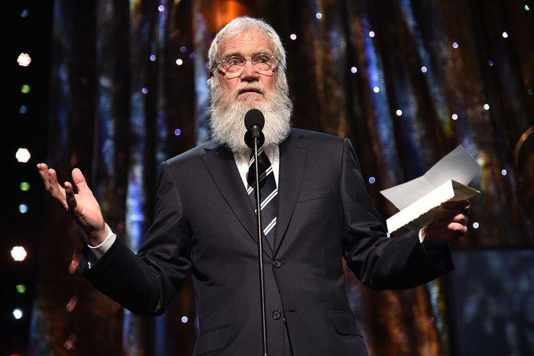 David Letterman on stage