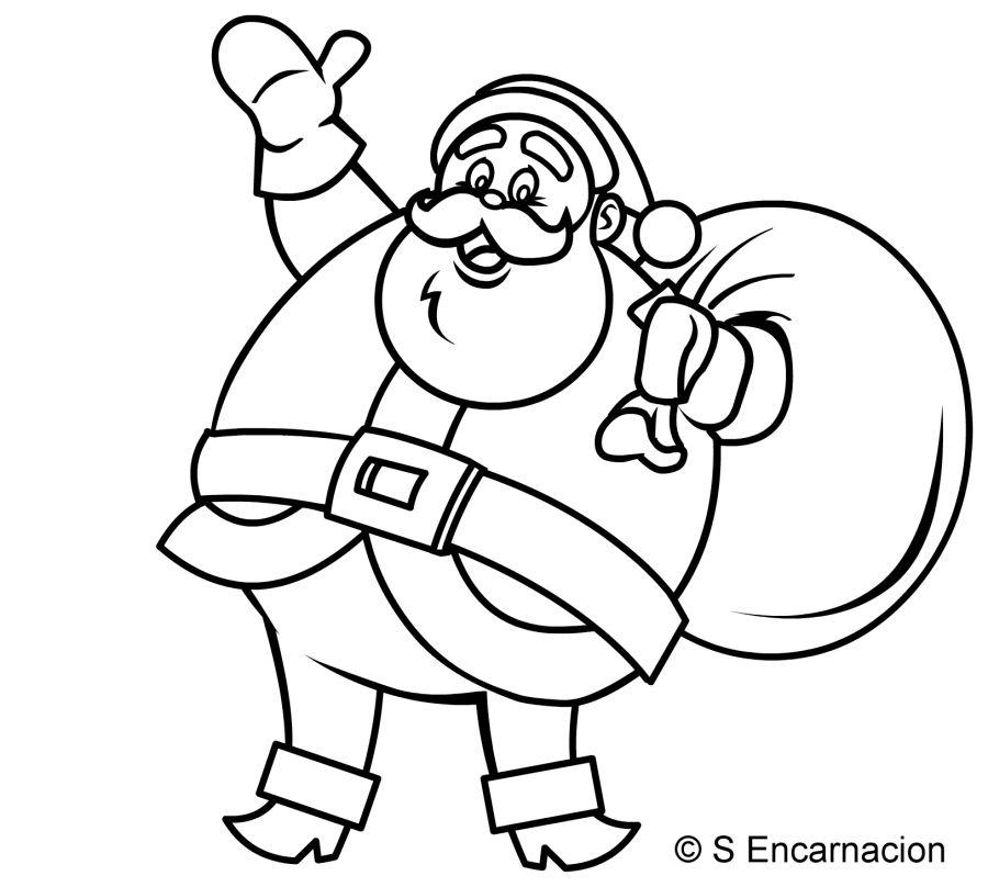 how to draw an outline of a cartoon santa claus to draw an outline of a cartoon santa claus