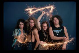 Van Halen Waving Sparklers
