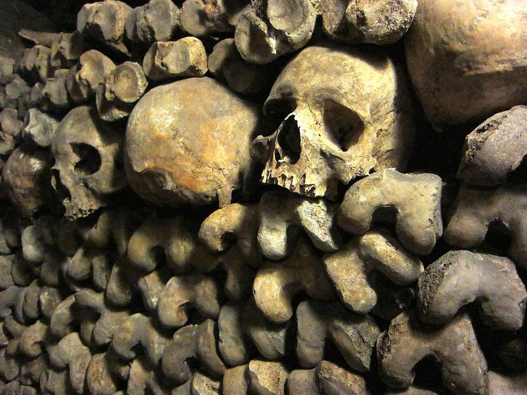 The catacombs of Paris, considered one of the world's most haunted cemeteries, hold the remains of more than 6 million souls.