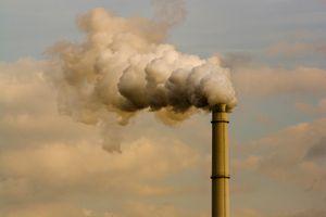 Smoke billowing out of a smokestack