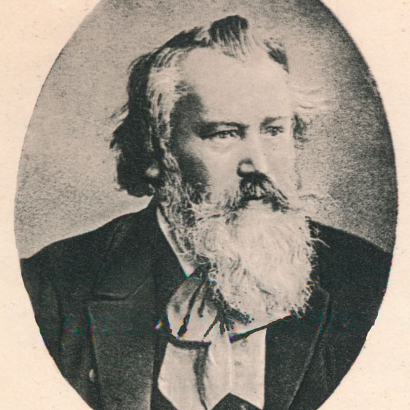 Johannes Brahms (1833-1897), German composer and pianist