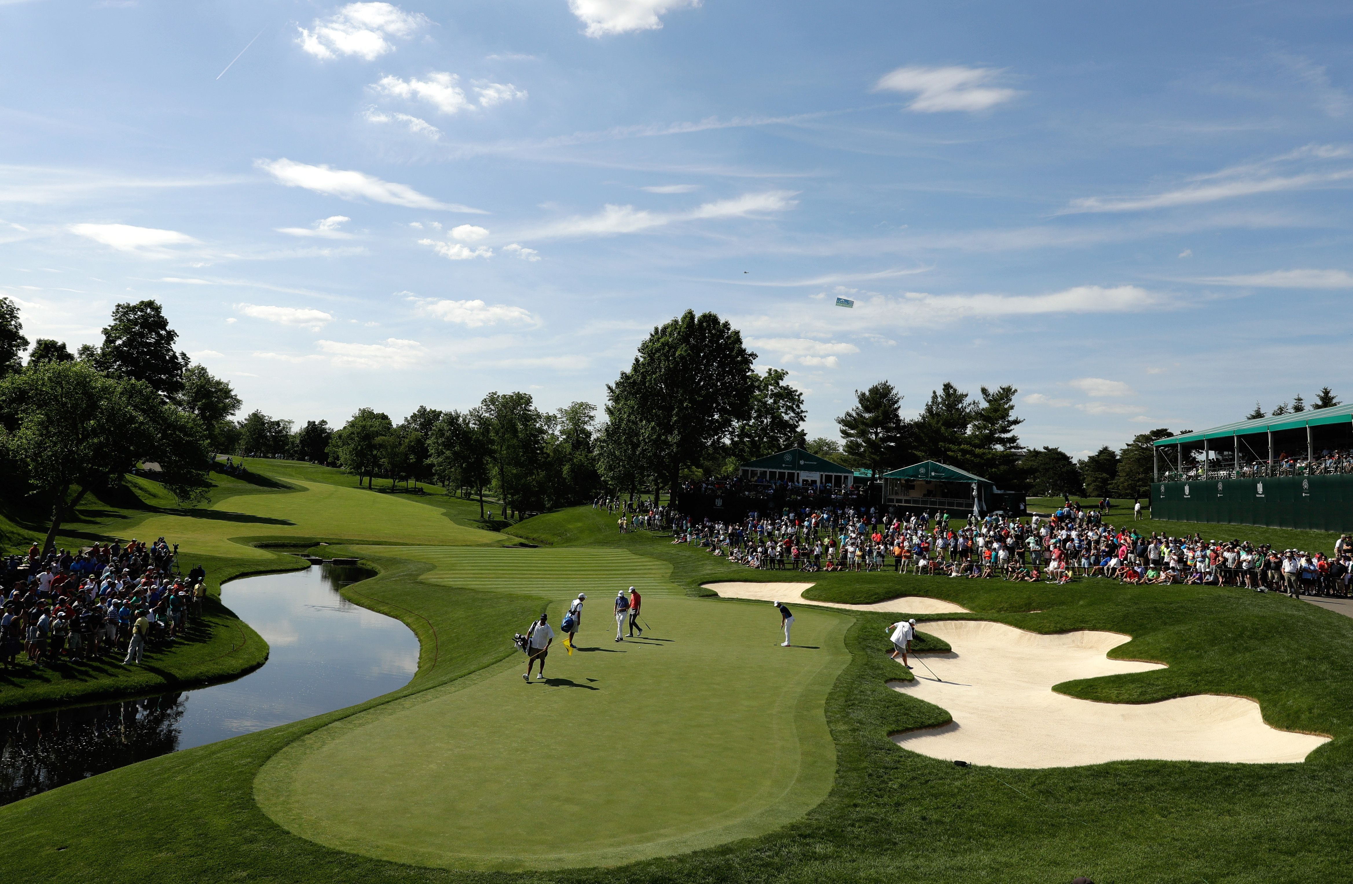 General view of the 14th hole of Muirfield Village Golf Club