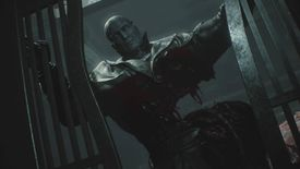 Tyrant gets disemboweled in Resident Evil 2 for PS4.
