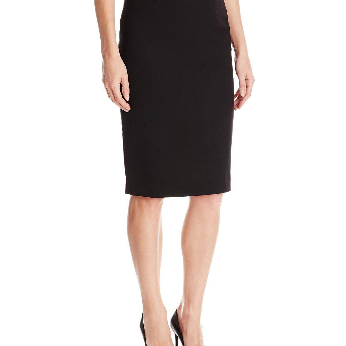474c525d Ellen Tracy Women's Petite High Waist Pencil Skirt