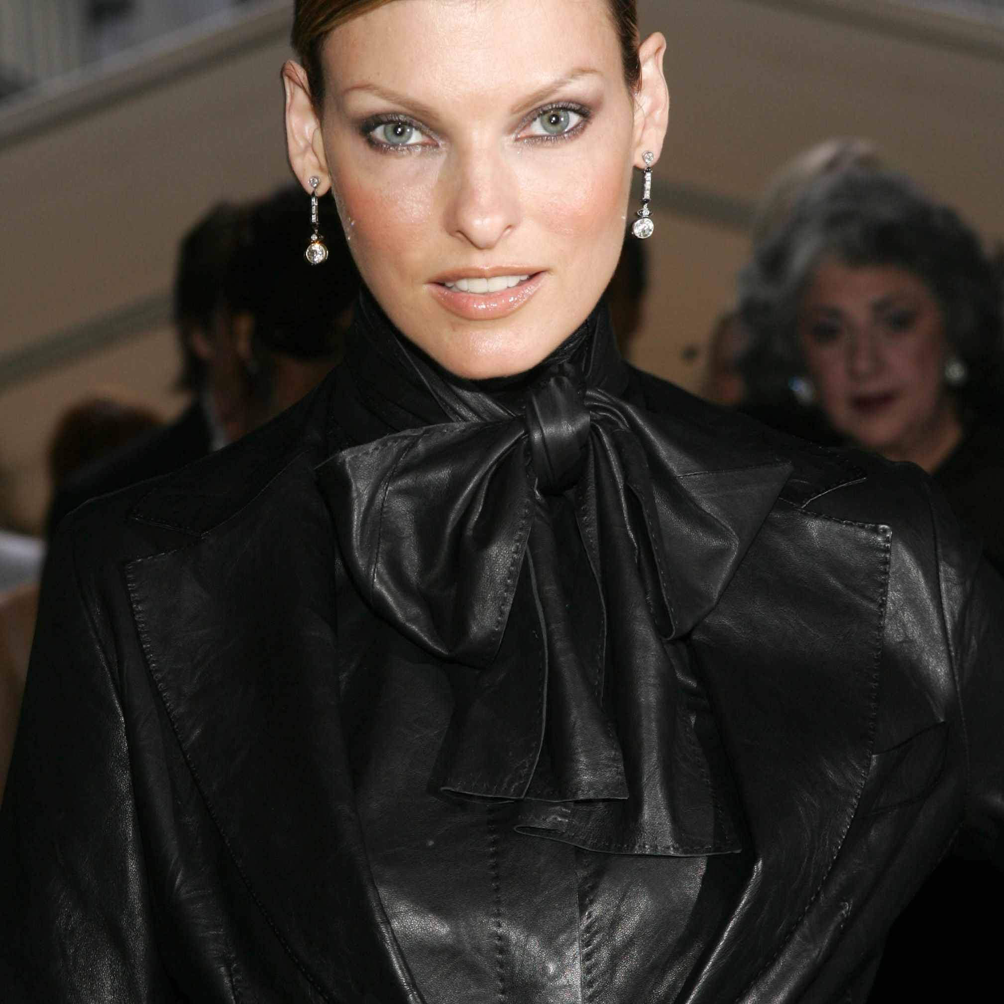 Model Linda Evangelista attends the 'Indiana Jones and the Kingdom of the Crystal Skull' premiere at the Palais des Festivals during the 61st Cannes International Film Festival on May 18, 2008 in Cannes, France.