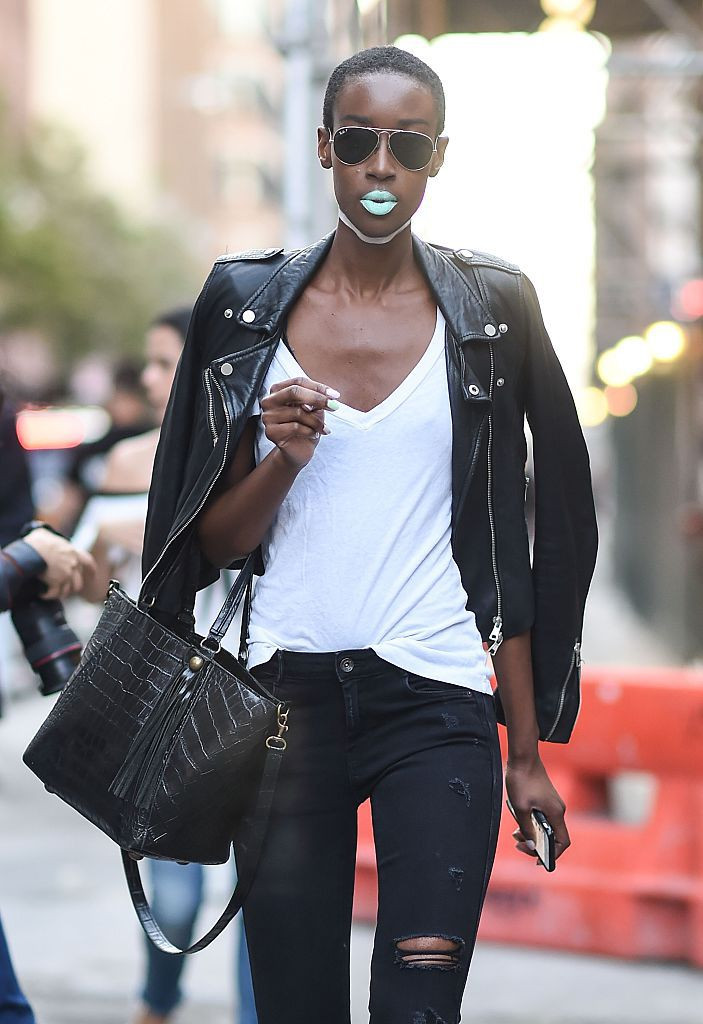 4cb0c83304c Go-to Weekend Look  Black Skinny Jeans and Leather Jacket