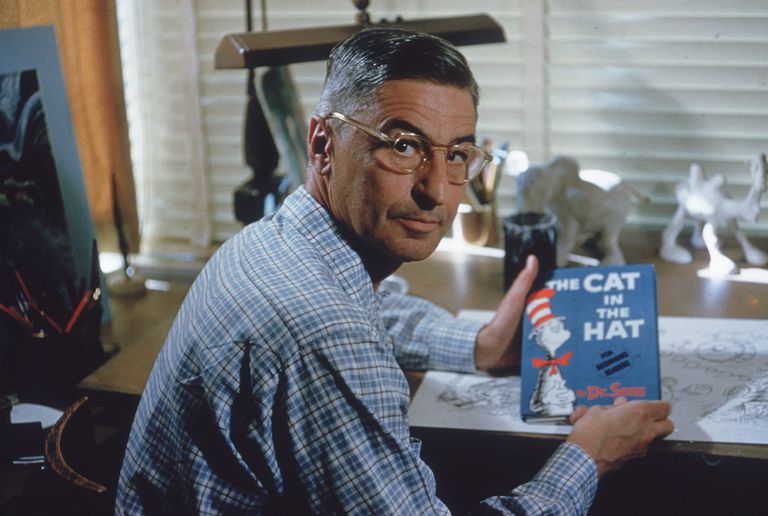 Dr. Seuss Holds 'The Cat In The Hat'
