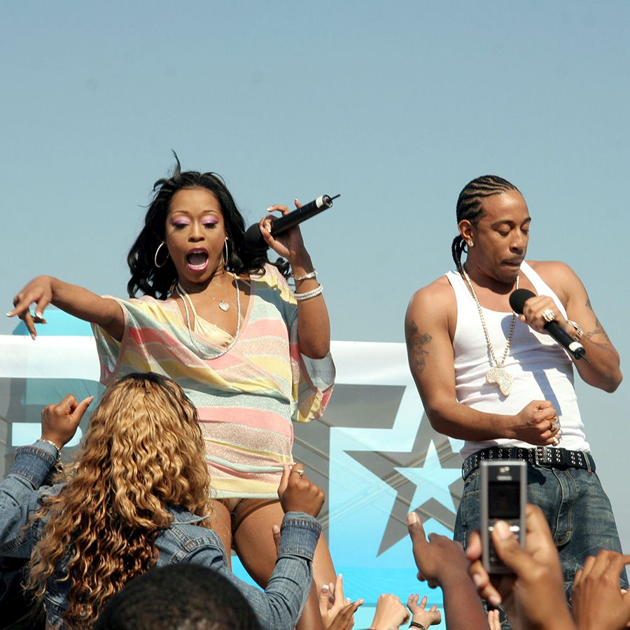 Ludacris and Shawnna performing
