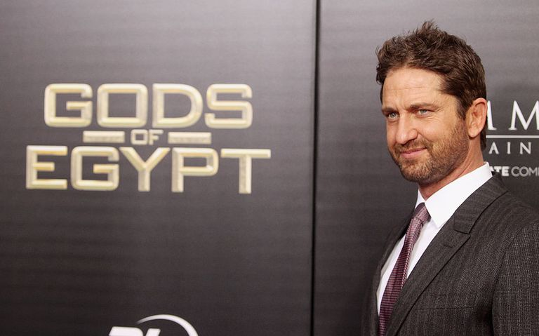 """Gods of Egypt"" star Gerard Butler at the film's premiere"