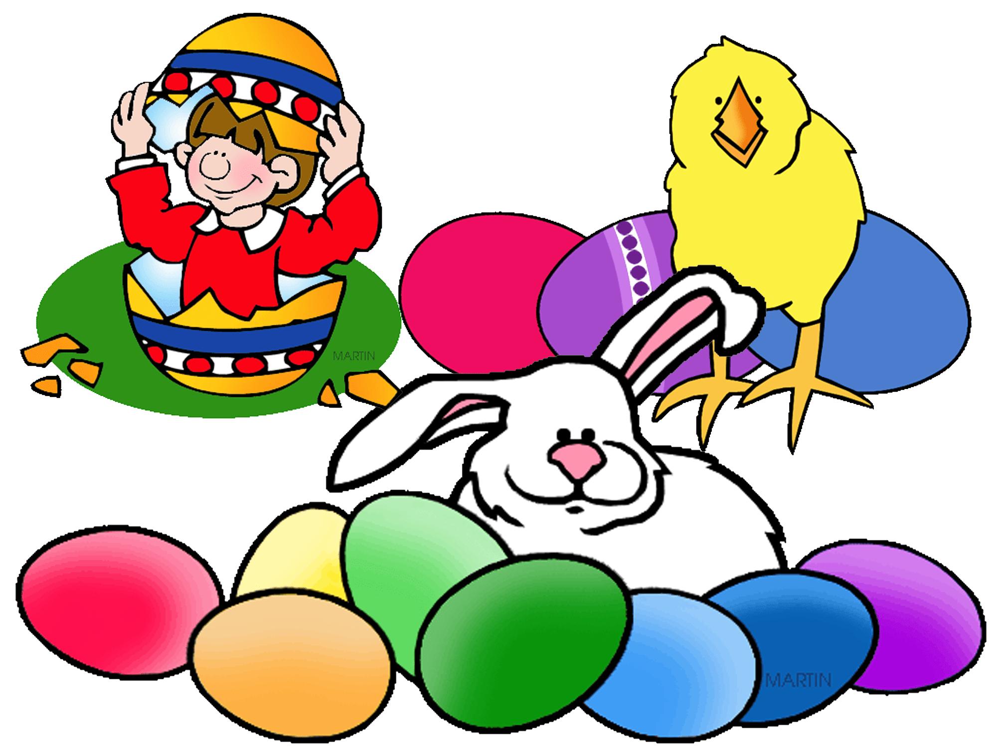 Screenshot of Easter clip art images