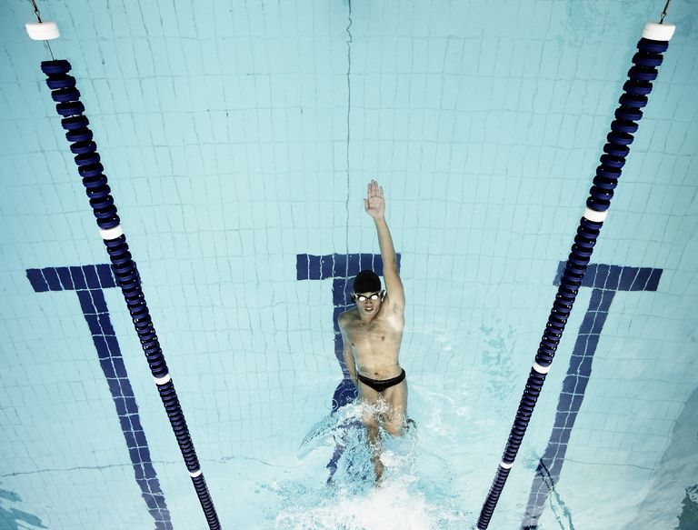 Swimmer in a Pool