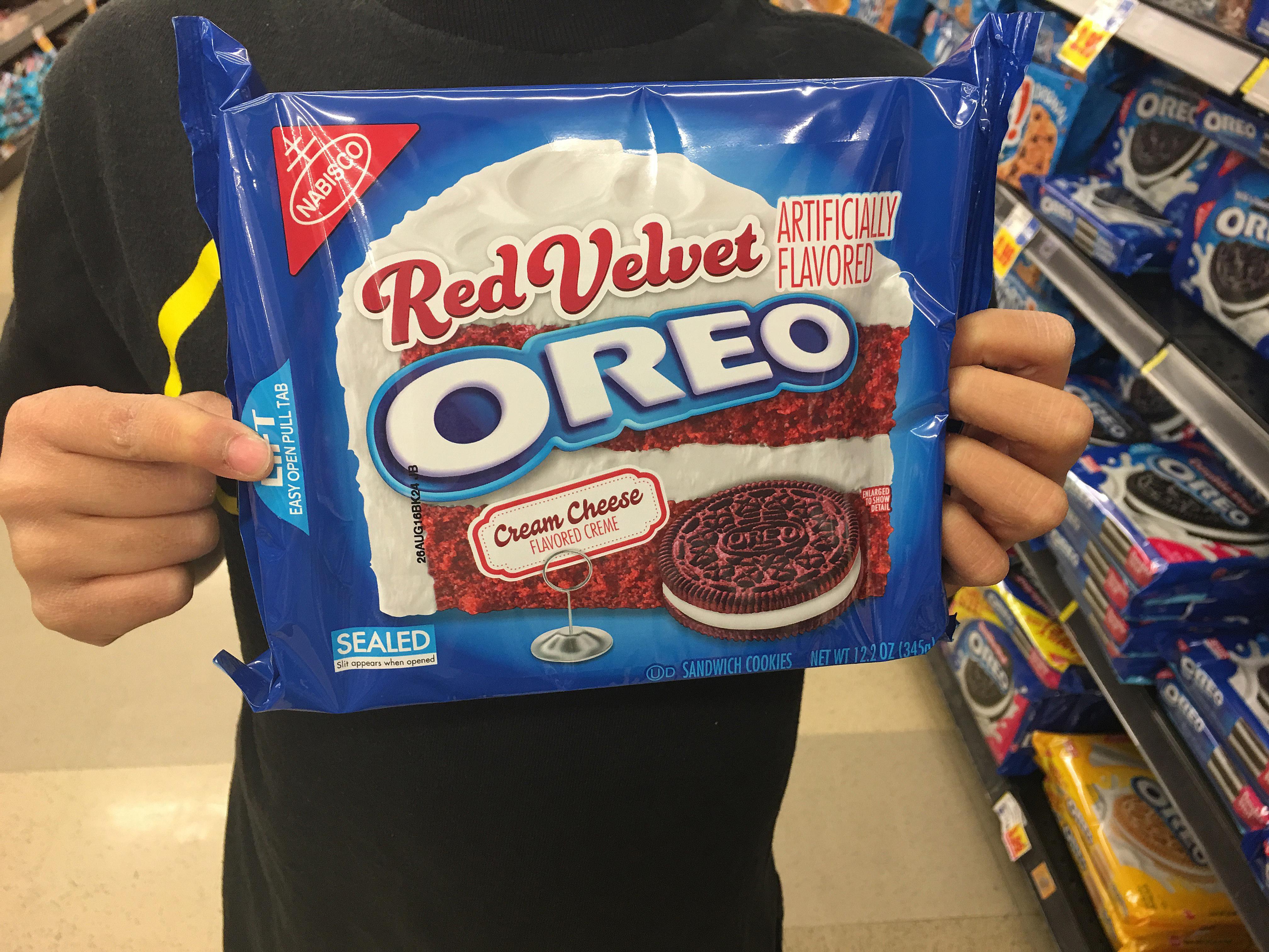 A bag of Red Velvet Oreo's.