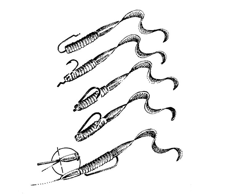 Fishing lure hooking diagram