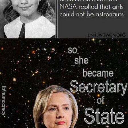 Hillary Clinton Astronaut