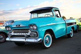 A classic Chevy pickup truck