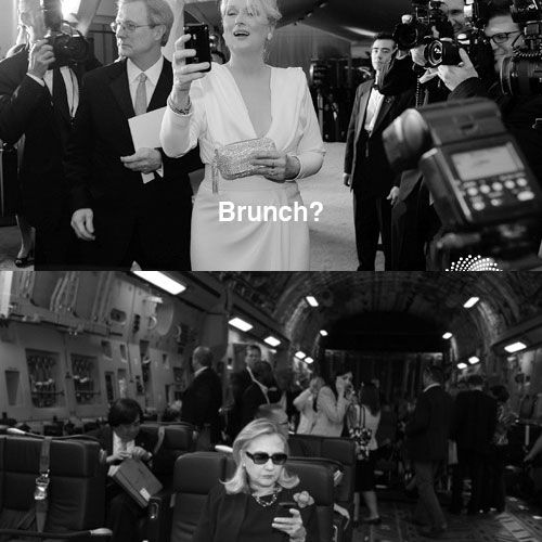 Hillary Clinton Text to Meryl Streep