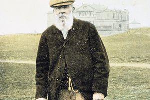 Golf legend Old Tom Morris circa 1900