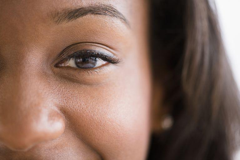 Closeup of a woman's pores