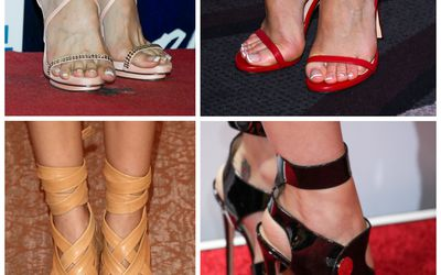 Celebrities With French Pedicures Lying Nail Polish