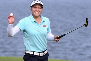 Brooke Henderson is all smiles after winning the LPGA Lotte Championship in 2018.