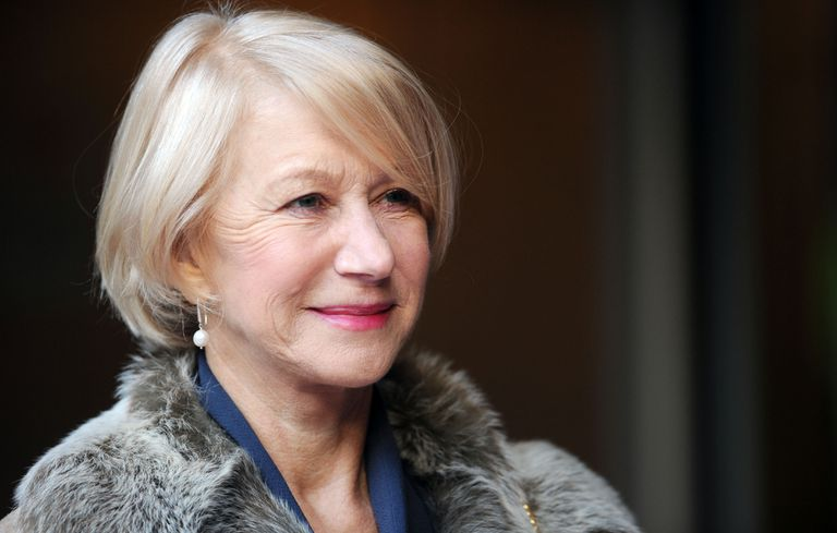 Portrait of Helen Mirren in a fur coat