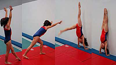 How to Do a Handstand -- Kick Up