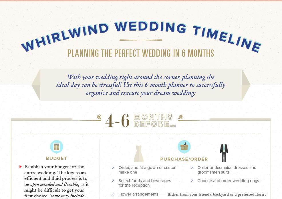 A blue and tan wedding checklist