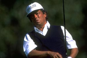 Homero Blancas on the Champions Tour in 1993. At an amateur tournament in 1962, Blancas posted a score of 55