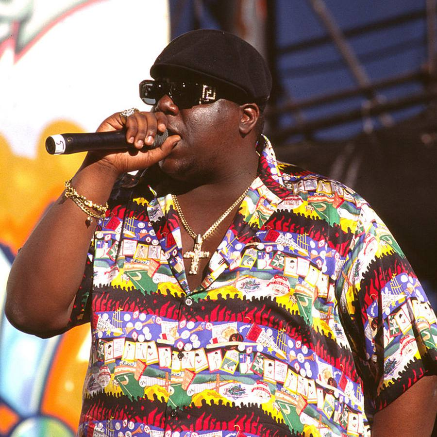The Notorious BIG performing