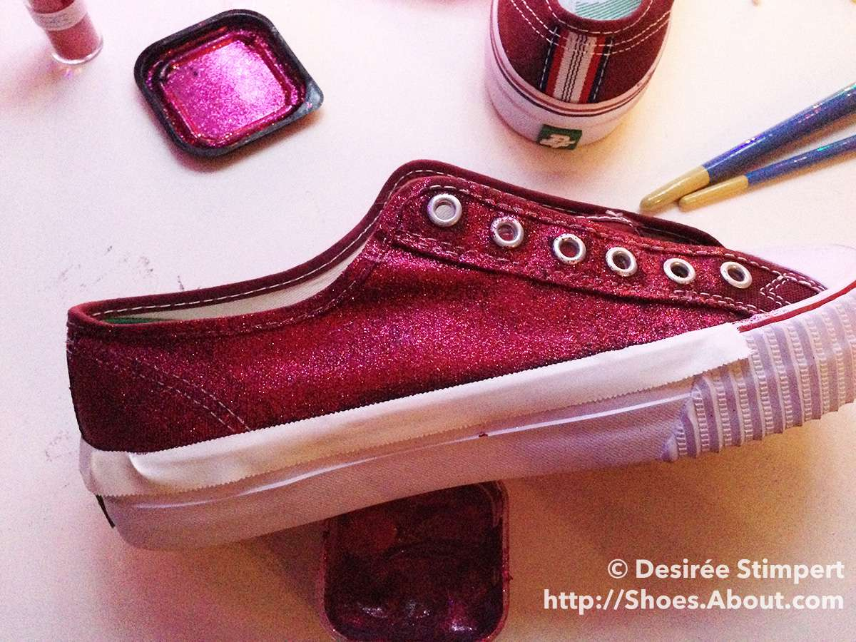511a5257abbb Make Your Own Glitter Sneakers - Step 2: Protect Your Shoes