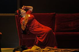 Puccini's 'Tosca' at the Metropolitan Opera House on Friday, October 25, 2013.This image:Patricia Racette.