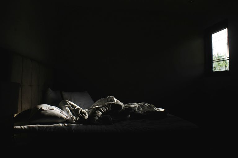 A dark bedroom