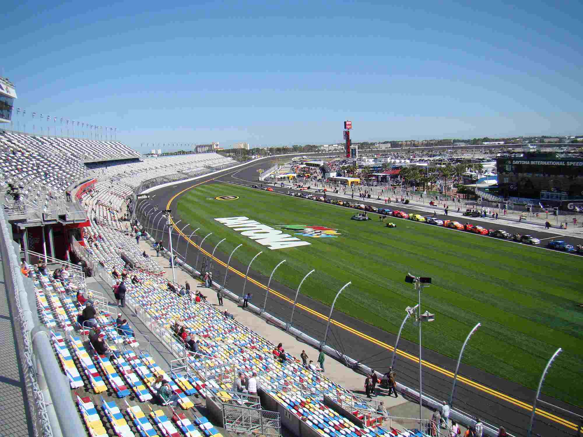 The tri-oval after the 2010-2011 repaving