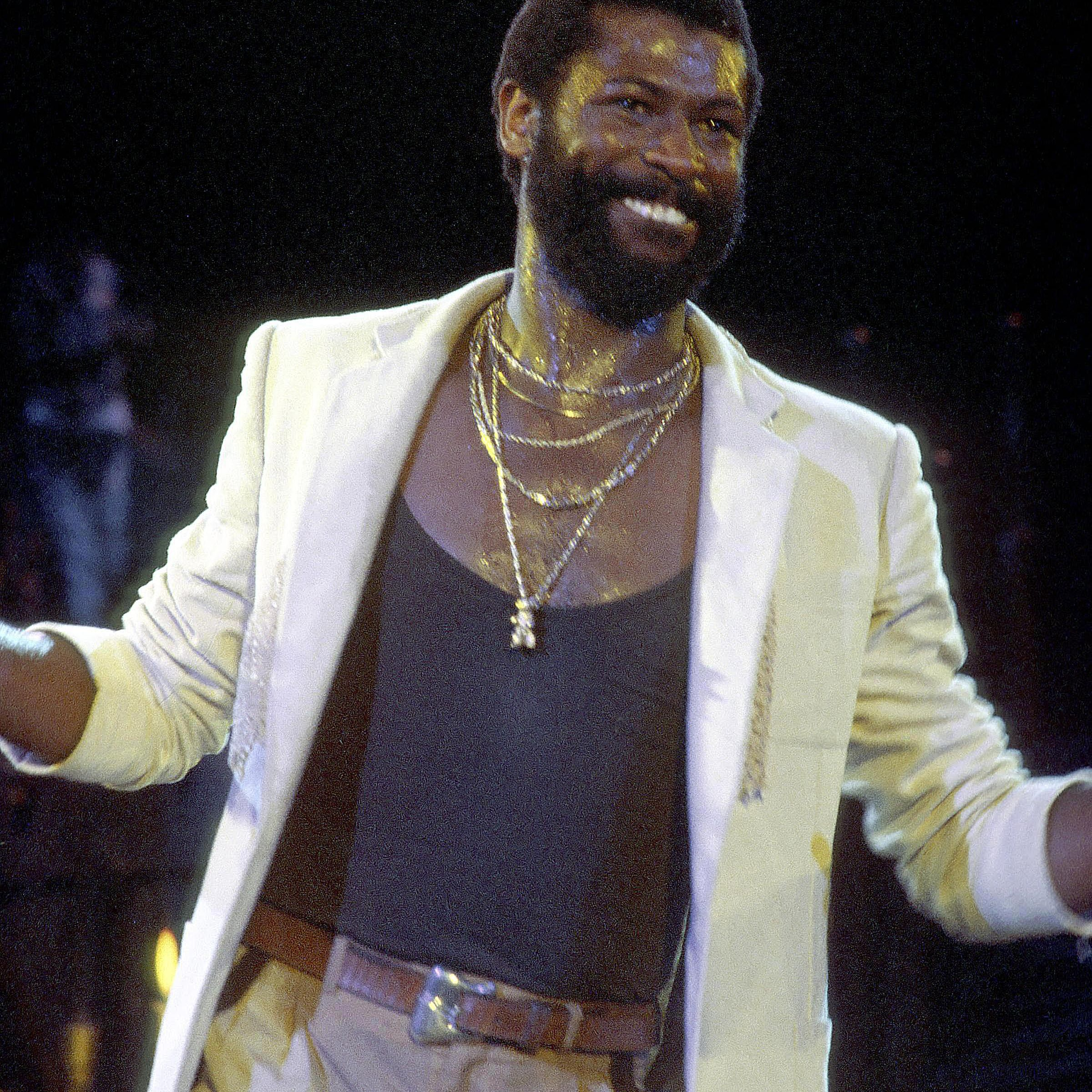 Portrait of Teddy Pendergrass during a performance