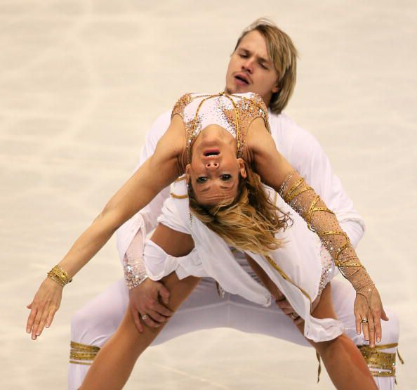 2007 World Ice Dancing Champions Albena Denkova and Maxim Staviski of Bulgaria