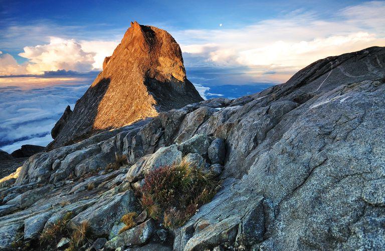 St. John Peak at sunrise, Mount Kinabalu, Borneo, Malaysia