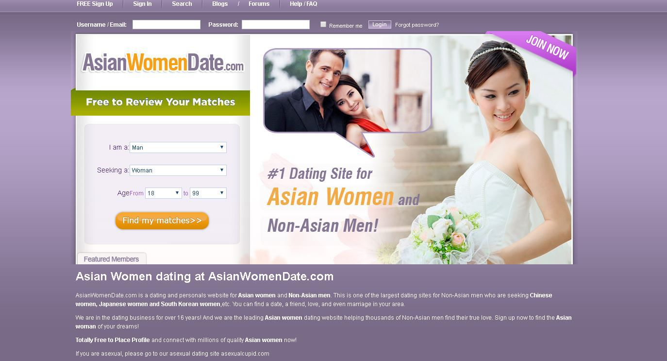 Asian dating site sign in
