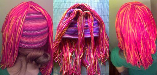 How To Make A Yarn Wig Photo Tutorial