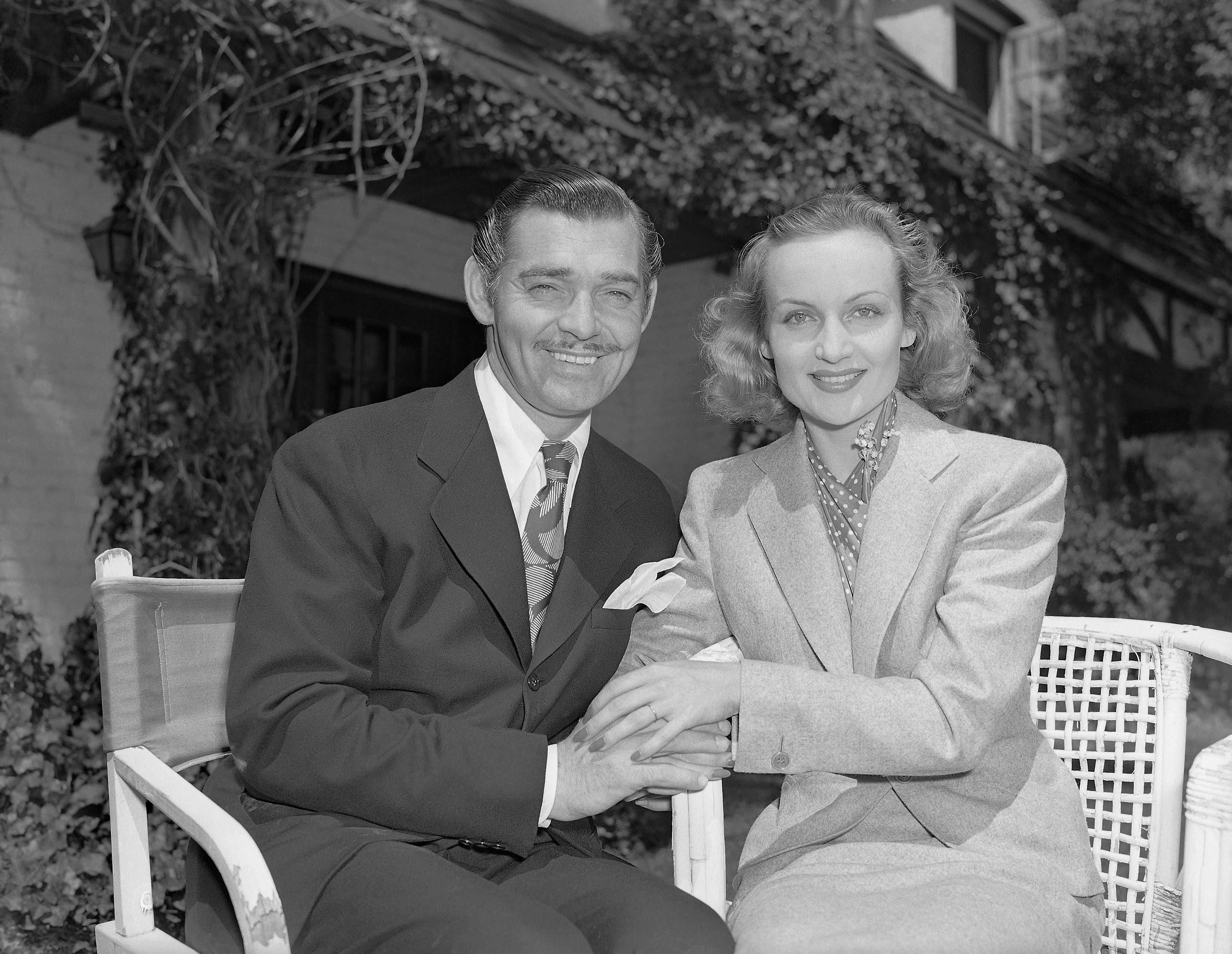 Clark Gable and Carole Lombard after Their Wedding
