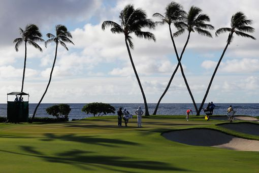 A view of the 16th green at Waialae Country Club in Hawaii.